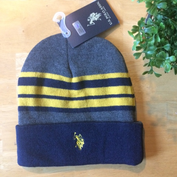 U.S POLO Beanie winter hat reversible 1ff3eb3b305